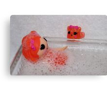 Saturday Night Bath Canvas Print