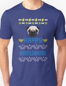 Pugly Hanukkah Ugly Christmas Sweater Style T-Shirt