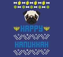 Pugly Hanukkah Ugly Christmas Sweater Style Unisex T-Shirt