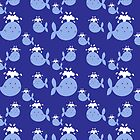 Cute Blue Whale Pattern by SaradaBoru