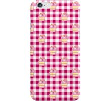 Pink Gingham Cake Pattern iPhone Case/Skin