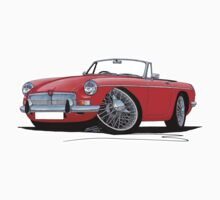MG B Roadster Red by Richard Yeomans