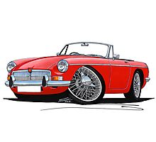 MG B Roadster Red Photographic Print