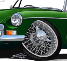 MG B Roadster British Racing Green Sticker