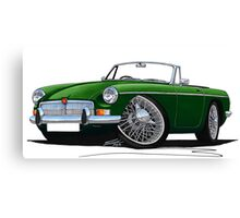 MG B Roadster British Racing Green Canvas Print
