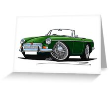 MG B Roadster British Racing Green Greeting Card