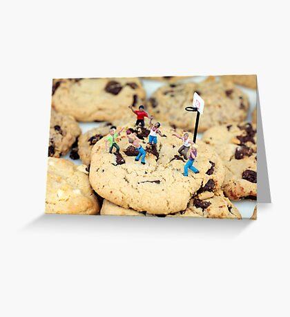 Playing basketball on cookies II Greeting Card