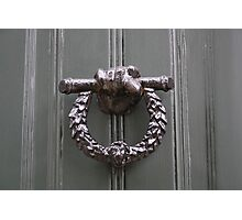 Keats' House door knocker Photographic Print