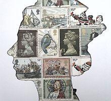 Queen Stamp Stencil  by garyford