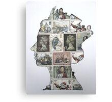 Queen Stamp Stencil  Canvas Print
