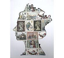 Queen Stamp Stencil  Photographic Print