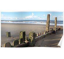 Mundesley Beach III, Norfolk, England Poster