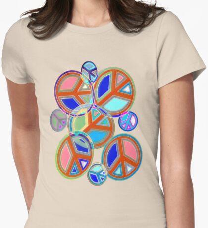 Peace Art T-Shirt Womens Fitted T-Shirt
