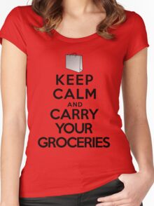 Keep calm and carry your groceries Women's Fitted Scoop T-Shirt