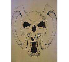 Daemon Skull Photographic Print