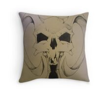 Daemon Skull Throw Pillow