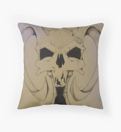 Daemon Skull Throw Pillow
