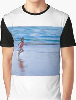 Girl running on the beach Graphic T-Shirt