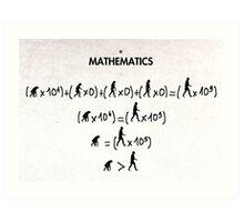 99 Steps of Progress - Mathematics Art Print