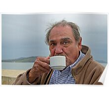 Red Bubbler David ~ Nothing Like a Nice Hot Cuppa :) Poster