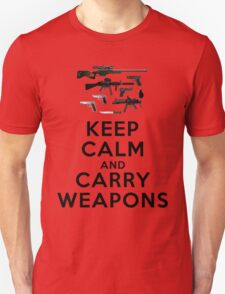 Keep calm and carry weapons T-Shirt