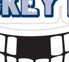 Funny Hockey Fan Sticker