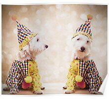 Circus Clown Dogs Poster