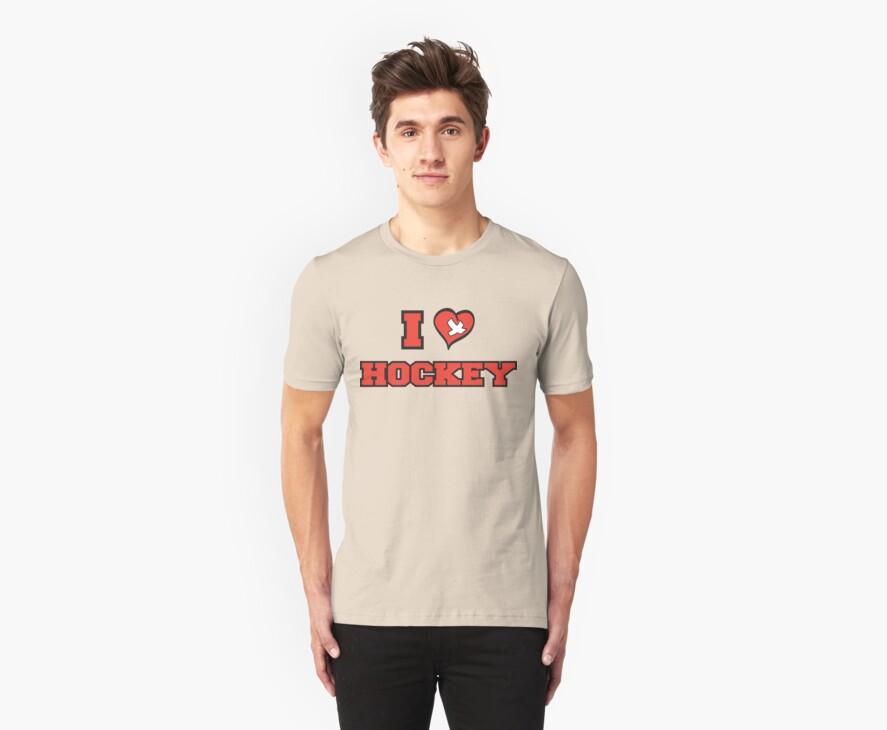 I Love Hockey by SportsT-Shirts