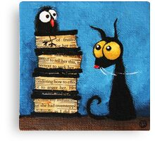 Tower of books Canvas Print