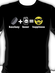 Funny Hockey + Beer = Happiness T-Shirt