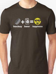 Funny Hockey + Beer = Happiness T-Shirt
