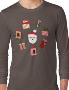 Santa Claus Pattern - Spruce Forest Long Sleeve T-Shirt