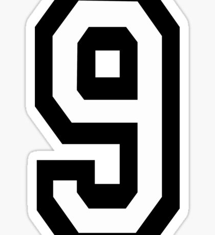 9, TEAM, SPORTS, NUMBER 9, NINE, NINTH, competition Sticker