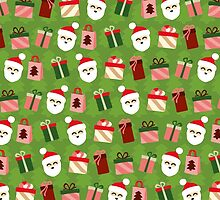 Santa Claus Pattern - Spruce Forest by XOOXOO