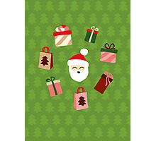 Santa Claus Pattern - Spruce Forest Photographic Print
