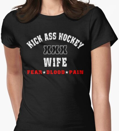 Hockey Wife Womens Fitted T-Shirt