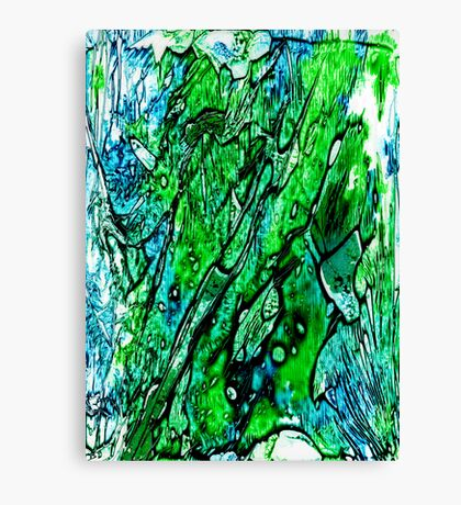 Blue Green and Black Canvas Print