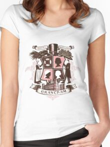 Grantham coat of arms (pink) Women's Fitted Scoop T-Shirt