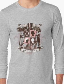 Grantham coat of arms (pink) Long Sleeve T-Shirt