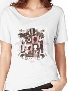 Grantham coat of arms (pink) Women's Relaxed Fit T-Shirt