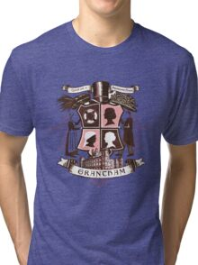 Grantham coat of arms (pink) Tri-blend T-Shirt