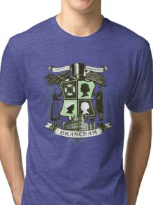Grantham coat of arms (green) Tri-blend T-Shirt