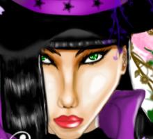 Green-Eyed Healing Witch Sticker