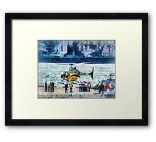 Manhattan Heliport Framed Print