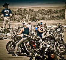 Full Throttle Saloon Parking Sturgis 2012 by David Owens