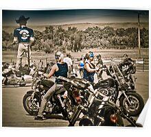 Full Throttle Saloon Parking Sturgis 2012 Poster
