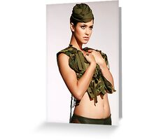 Soldier Of Fashion Greeting Card