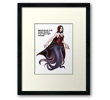 Genevieve The Dark Queen Fantasy Art  Framed Print