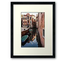 Venice, Italy - Wandering Around the Small Canals Framed Print