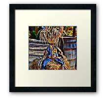 Having a bad hair day...but still smiling...it's Halloween!! Framed Print